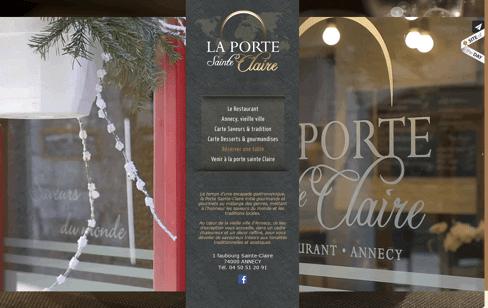 RESTAURANT PORTE SAINTE CLAIRE  Web Design