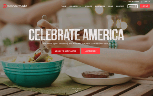 Celebrate America | ReminderMedia Web Design