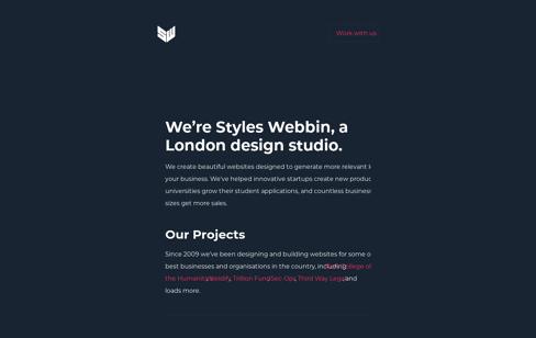 Styles Webbin Web Design