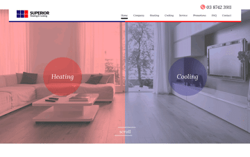 Superior Heating & Cooling Web Design