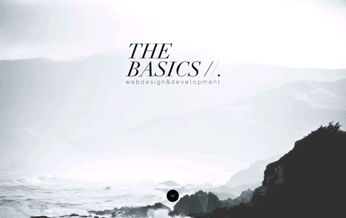 The Basics | webdesign & development Web Design