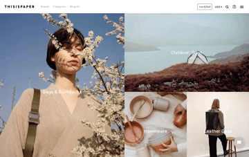 Thisispaper Shop Web Design