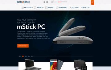 Blue Sonic Web Design
