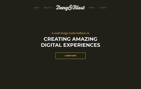 Dang & Blast Web Design