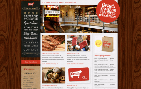 Gene's Sausage Shop & Delicatessen Web Design