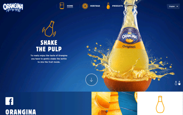 Orangina Web Design