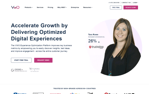 VWO Experience Optimization Platform Web Design