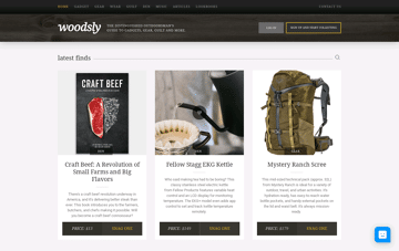Woodsly: Our Latest Finds Web Design