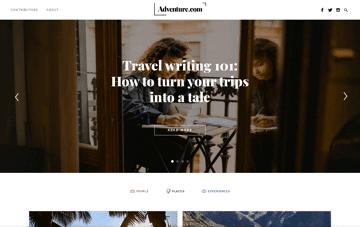 Adventure.com Web Design
