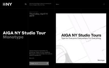 AIGA New York Chapter    Web Design