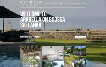 Arabella On Boossa Web Design