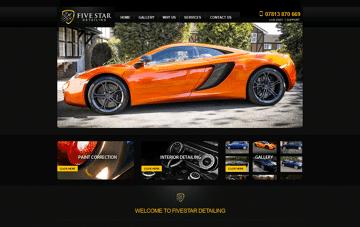 Five Star Detailing Web Design