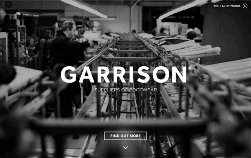 Garrison Footwear Web Design