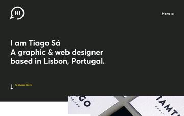 I am Tiago - Graphic & Web Designer Web Design