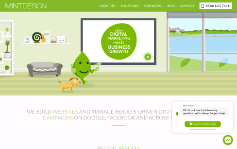 Mint Design Web Design