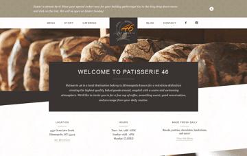 Patisserie 46 Web Design