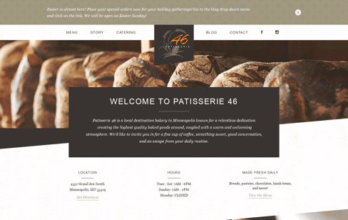 Patisserie 46 Web Design