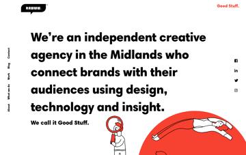Rawww creative agency Web Design