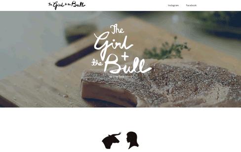 The Girl + The Bull Web Design