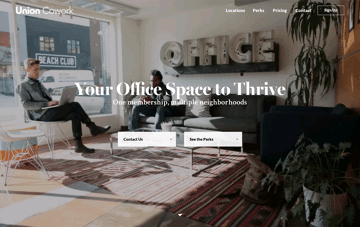 Union Cowork Web Design