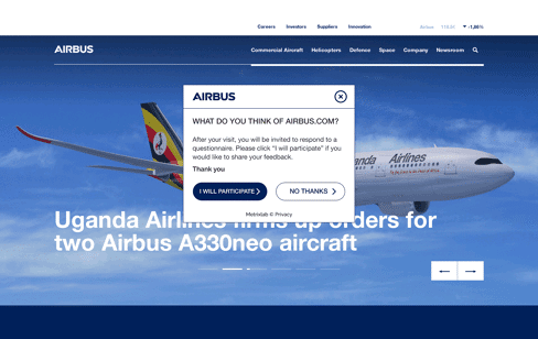 Airbus Group Web Design