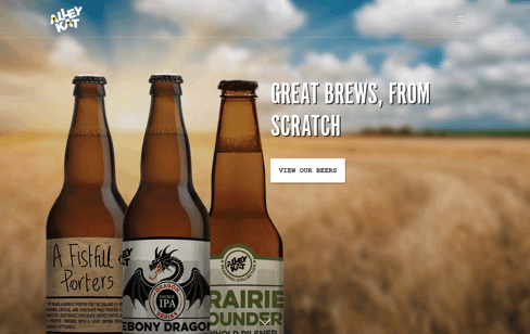 Alley Kat Brewing Company Web Design