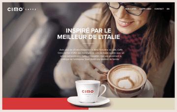 Caffe Cimo Web Design