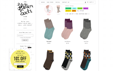 The Hidden Socks Club Web Design