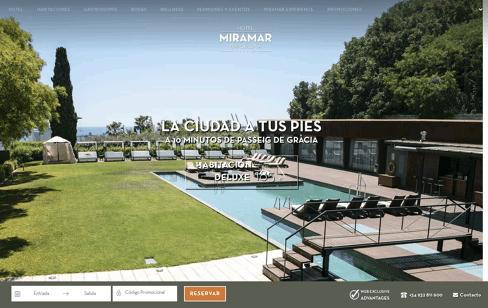 Hotel Miramar Barcelona Web Design