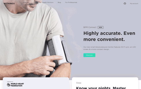 Withings Web Design