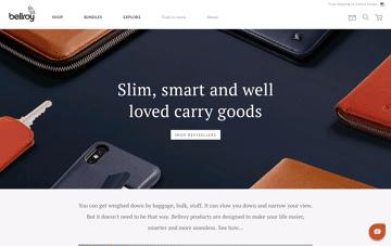 Bellroy Web Design