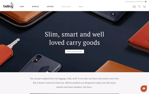 Bellroy Web Design