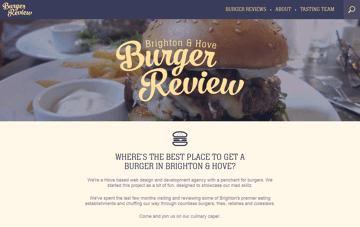 Brighton's finest burgers Web Design