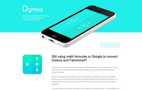Dgrees - Celsius & Fahrenheit Converter Web Design