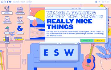 Eat Sleep Work Creative Agency Web Design