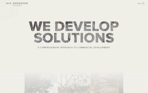 Hix Snedeker Companies Web Design