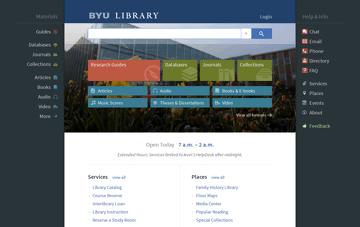 BYU Library Web Design