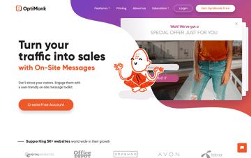 OptiMonk Web Design