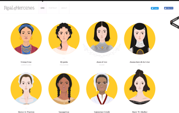 Real Heroines Web Design