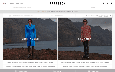 Farfetch Web Design