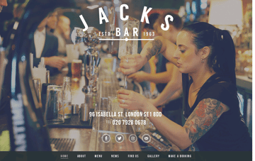 Jacks Bar Web Design