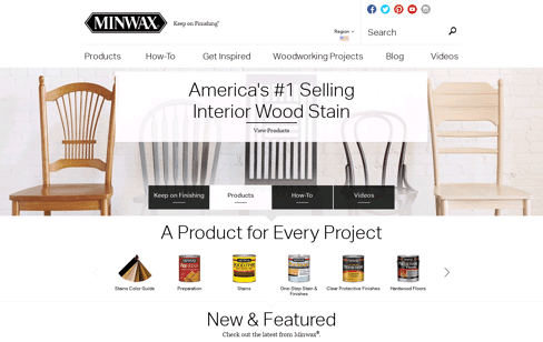 Minwax Web Design