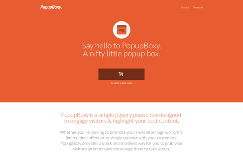 PopupBoxy Web Design