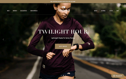 Tracksmith Web Design