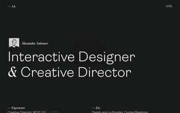 Alexander Antonov Web Design