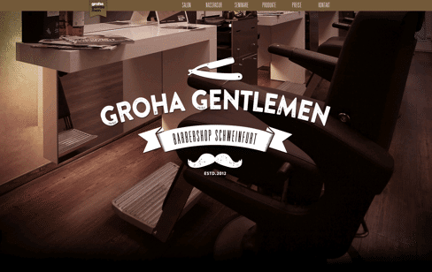 Groha Gentlemen Web Design