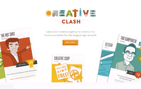 Creative Clash The Board Game   Web Design