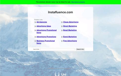 Instafluence Web Design