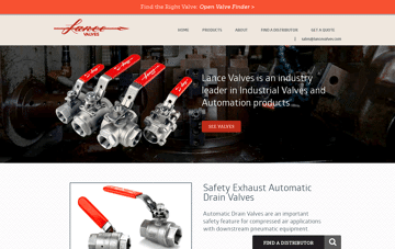 Lance Valves Web Design