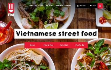 Pho Restaurants Web Design